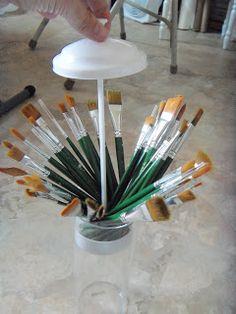 Tinkering Around: Straw Holder Re-purposed!!!