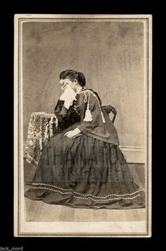 Superb RARE Crying Mourning Woman 1860s CDV with Civil War Tax Stamp | eBay
