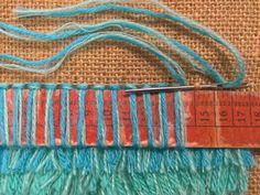Ryijyperinne - Elävä perintö -wiki Rug Loom, Loom Weaving, Textile Fiber Art, Textile Fabrics, Yarn Crafts, Sewing Crafts, Rya Rug, Crochet Rug Patterns, Diy Hanging Shelves
