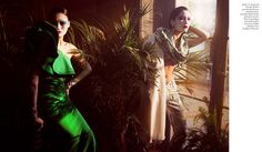 mystique: qi wen and vivien ong by amber gray for the magazine by the bangkok post!
