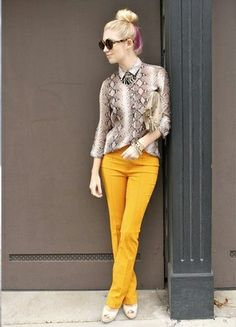Bright Yellow Pants Outfit