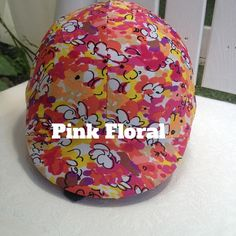 Pink Floral Equine Safety Helmet Cover by TheStitchingHorse