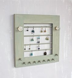 Wall Hanging Jewelry Holder Organizer for Earrings by onthewallusa