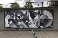 """Résultat de recherche d'images pour """"street art mur géométrique"""""""