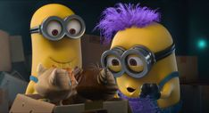 So far, Universal Pictures and Illumination Entertainment have presented 10 minion mini movies besides the 3 big pictures. Minions Mini Movie, Purple Minions, Evil Minions, Minions Despicable Me, Minions 2014, Minions Funny Images, Minion Pictures, Minions Quotes, Funny Pictures