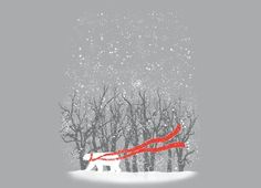 """""""The Red Scarf"""" - Threadless.com - Best t-shirts in the world"""