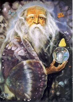 Patrick Gamble Transformation Wizard Greeting Card