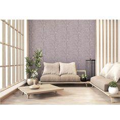 Quaint Cherry Blossom Grey Wallpaper - Default Title