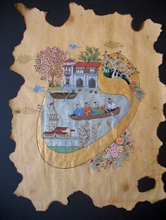SanalKültür - KanalKültür: Sezen Okur - 'Vav Harfinin Hikâyesi' Oriental Art, Miniature Art, Miniatures, Turkish Art, Art, Ebru Art, Ancient Art, Islamic Artwork, Miniature Painting