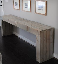 reclaimed wood console table by raka mod on scoutmob shoppe made from oak shipping pallets