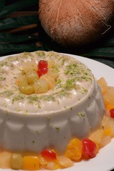 Haitian Blancmange, a refreshing dessert that is a perfect ending to our Haitian meal and all that heat!
