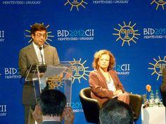 El presidente del BID, Luis Alberto Moreno, en el seminario con la sociedad civil.