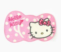 "Hello Kitty Mini Room Rug: Ribbon- 13.5""H x 21""W x 0.25""D"