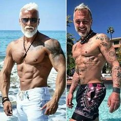 Fitness fanatic, spends a fortune making himself look OLDER Sugar Daddy Dating, Social Media Stars, Look Older, Plank Workout, Many Men, Poses For Photos, Going Gray, Intense Workout, Older Men