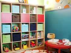 small play room ideals | For a unified effect, choose matching baskets and buckets for playroom ...