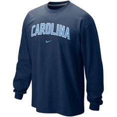 Nike North Carolina Tar Heels (UNC) Classic Arch Long Sleeve T-Shirt - Navy Blue