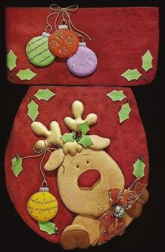Christmas 2019 : Christmas decorations 2019 - 2020 that you can make with felt Christmas Sewing, Noel Christmas, Christmas Projects, Christmas 2019, Felt Christmas Decorations, Diy Christmas Ornaments, Holiday Decor, Felt Crafts, Diy And Crafts