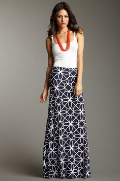 TART Toulouse Maxi Skirt on HauteLook. Love this look! Moda Fashion, Dress Me Up, Spring Summer Fashion, Summer Maxi, Passion For Fashion, Fashion Outfits, Fashion Trends, Dress To Impress, Ideias Fashion