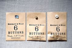 Great button packaging from Merchant & Mills. How come the button isn't on the outside more often?