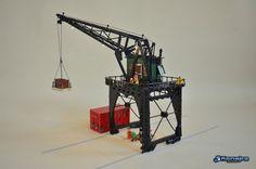 vintage harbour crane