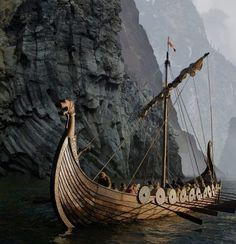 The great sea expeditions of the Viking Age - The basis of the great sea expeditions undertaken by the Vikings was ship technology. The Viking ship was a piece of high technology based upon hundreds of years of development and experience. Viking Life, Viking Warrior, Symbole Viking, Nordic Vikings, Viking Culture, Old Norse, Asatru, Norse Mythology, Dark Ages