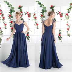Chiffon Cheap Simple A-line Cocktail Evening Long Prom Dresses Online , Cheap Bridesmaid Dresses , PD0156 The dress is fully lined, 4 bones in the bodice, chest pad in the bust, lace up back or zipper