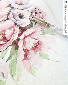 Found from @katerina_mihailina_07 I like #watercolorpainting #flower #repost with @repostapp #flowerpainting #paint #coloring #draw #design #art by repostifound