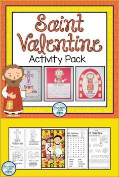 Printable resource to help Catholic kids learn about Saint Valentine. There are lots of fun activities to do on Valentine's Day while still learning about Saint Valentine. Writing activities, puzzles, word search and a craft. This is a great way to add to Religious education! #Catholic #SaintValentine #CatholicKids #HeavensLittleHelper Catholic Religious Education, Catholic Crafts, Catholic Kids, Catholic Saints, Church Activities, Valentines Day Activities, Writing Activities, Fun Activities, Saints For Kids