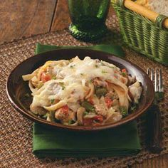 Sausage Fettuccine Bake Recipe Adjust for smaller batch or split into smaller containers to freeze.  Cover and freeze  for up to 3 months.