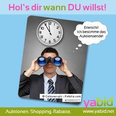 Mit #Durchblick nicht lang nach #Deals Ausschau halten! Bei #Yabid die besten Deals entdecken! Hol's dir wann DU willst! www.yabid.net