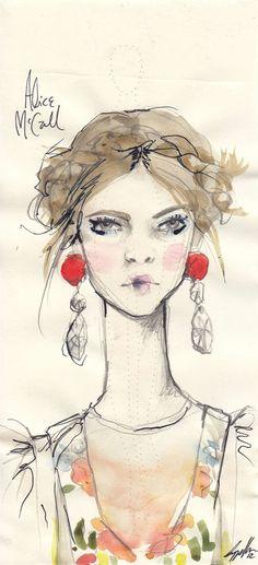 Alice McCall by Pippa McManus.  http://stylevoyeur.com/2012/05/fashion-illustrator-pippa-mcmanus-for-style-voyeur-mbfwa/