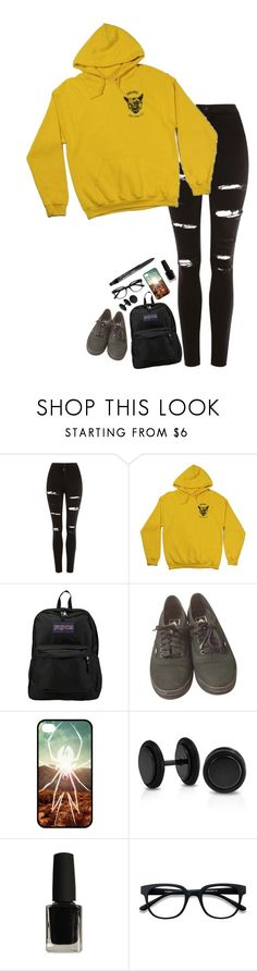 """I can see you awake anytime, in my head"" by xxghostlygracexx ❤ liked on Polyvore featuring Topshop, JanSport, Vans, Bling Jewelry, EyeBuyDirect.com and Too Faced Cosmetics"