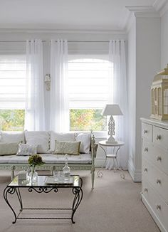 Sheer curtains and blinds for luxury privacy