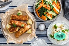 Crumbed Fish with Creamy Potato Salad and Vegetables | Marley Spoon