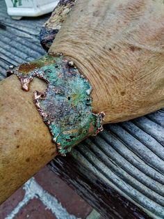 Items similar to Rustic Verdi Copper Cuff Bracelet. on Etsy Copper Cuff, Copper Bracelet, Metal Bracelets, Copper Jewelry, Cuff Bracelets, Mood Jewelry, Photo Jewelry, Jewelry Art, Jewelry Design