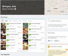 Bologna è fra le prime ad avere la City Pages su Foursquare! #4SQ