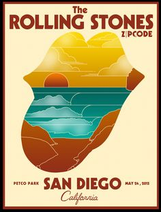 The Rolling Stones poster for San Diego design by Arian Buhler