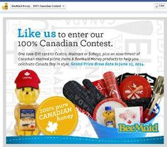 BeeMaid Honey 100% Canadian Contest