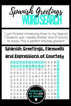 Spanish greeting word wall 53 greetings farewells and expressions spanish greeting word wall 53 greetings farewells and expressions of courtesy must have visual resource instant comprehensible input get you m4hsunfo