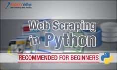 Beginners guide to Web Scraping in Python (using BeautifulSoup) The need and importance of extracting data from the web is becoming increasingly loud and clear. Every few weeks I find myself in a situation where we need to extract data from the web. @tachyeonz