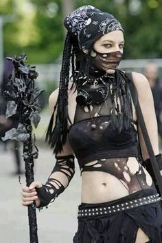 Goth style goes... well, it's not quite steam punk but definitely post-apocalyptic :)