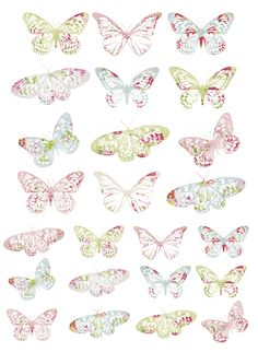 Sheet of Vintage Butterflies to embellish with... love these, so pretty