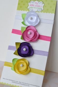 Baby Girl Headband Gift Set Perfect Newborn Gift por MyLittlePixies
