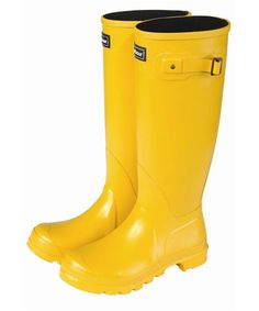 This winter I would love some Y E L L O W gumboots!