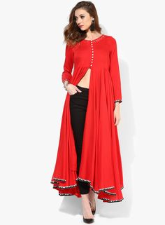 Buy Sangria Red Kurta for Women Online India, Best Prices, Reviews | SA038WA08BHJINDFAS