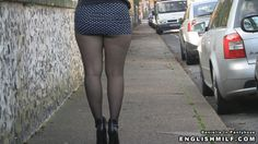 public pantyhose ass and legs in the street