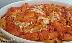 Pasta al forno Con salsiccia e  Mozzarella