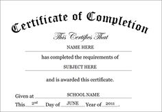 Certificate of completion free templates clip art wording certificate of completion template yelopaper Gallery