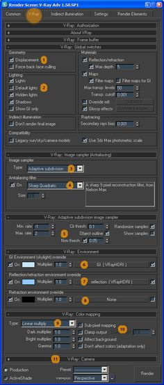 Vray renderer settings