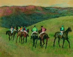 DEGAS/WIKI http://amanda-severn.hubpages.com/hub/Equestrian-Paintings-and-Drawings-Horse-Racing-and-The-Horse-in-Art